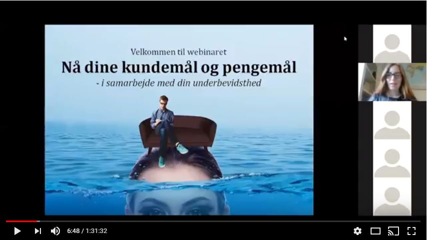 webinar nå dine mål Rie Jespersen