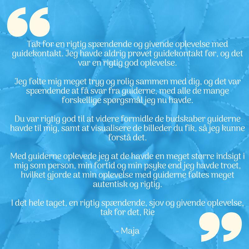 anbefaling af Rie Jespersen fra Maja